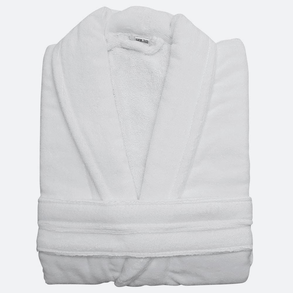 Albornoz Velour blanco Algodón 420 gramos