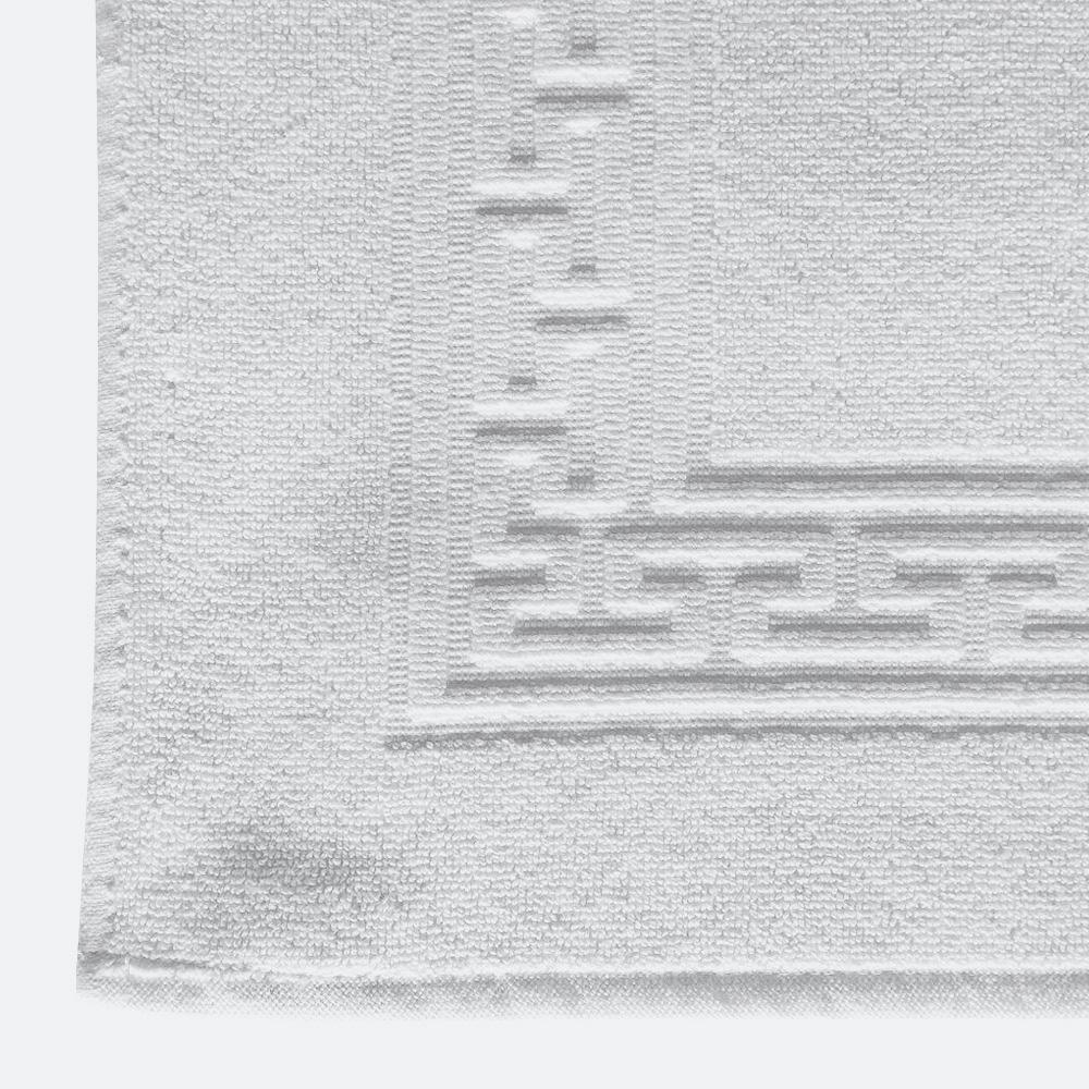 iberosa-textiles-rumbo-alfombra-de-bano-greca-blanca-algodon-650-gramos-detalle