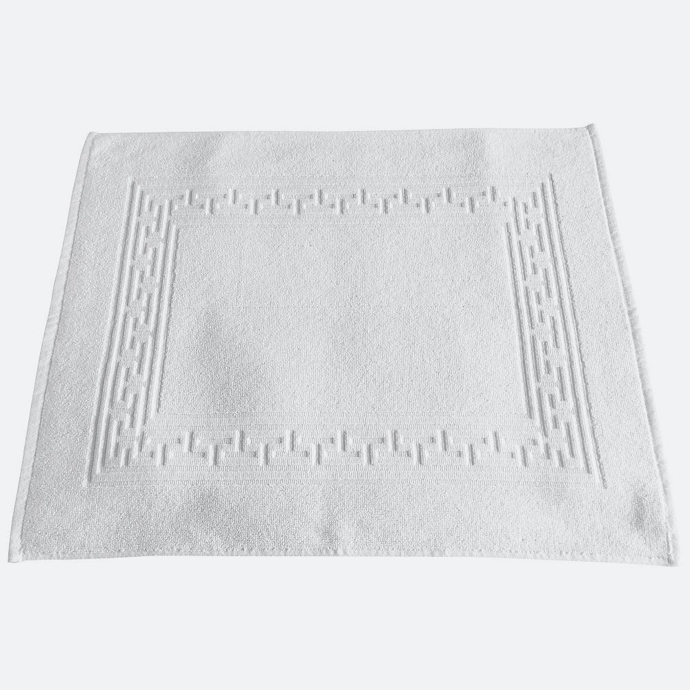 iberosa-textiles-rumbo-alfombra-de-bano-greca-blanca-algodon-650-gramos
