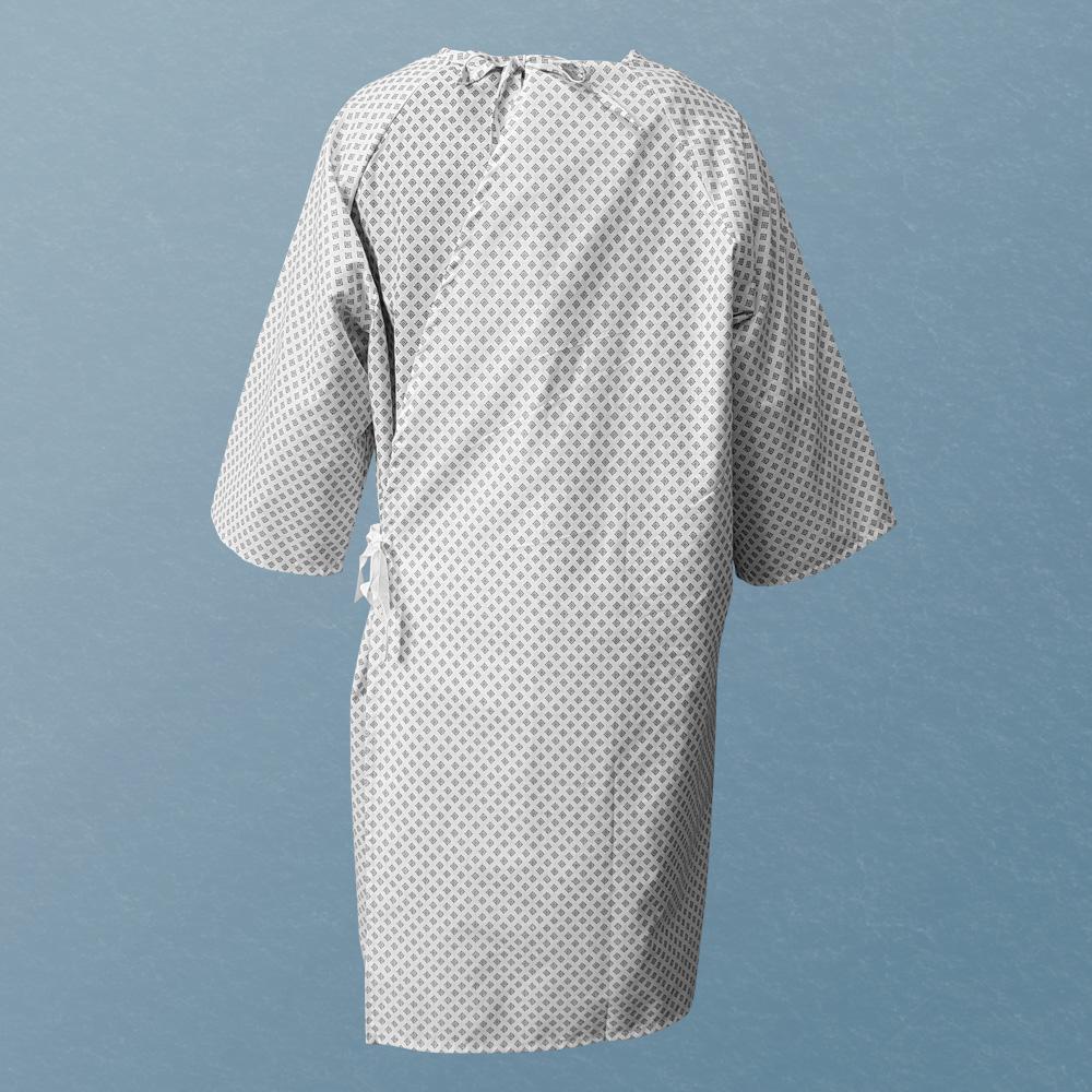 iberosa-textiles-rumbo-bata-paciente-hospital-snowflakes-espalda