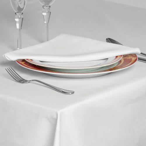 Tablecloths and napkins white satin